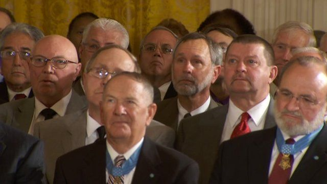 Members of Bravo Company at the White House 16 May 2012