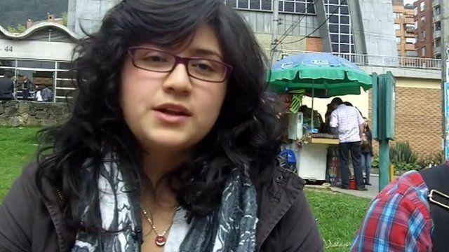 Katerina Aguirre, a Bogota resident