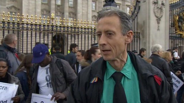 Protester Peter Tatchell