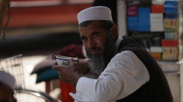 A man in Jalalabad, Afghanistan