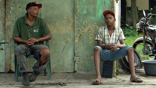Street scene in the Dominican Republic