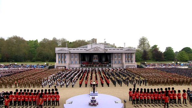 Troops at Queen's Diamond Jubilee parade