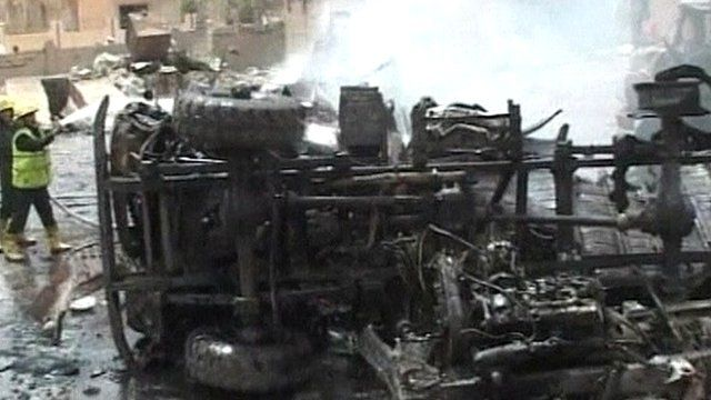 Aftermath of explosion in Syria
