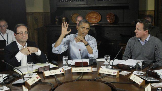 World leaders at G8 summit