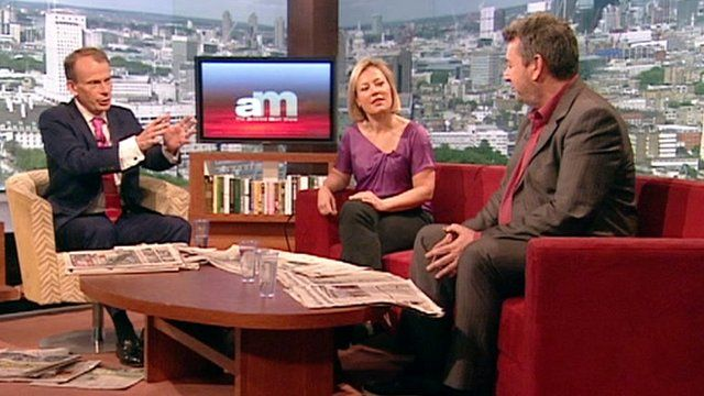 Gillian Tett and David Aaronovitch reviewing the papers on The Andrew Marr Show