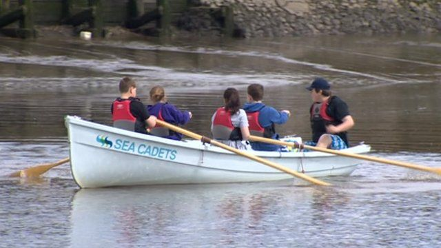 Gosforth sea cadets training on the River Tyne
