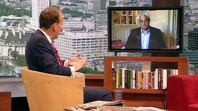Alistair Darling on The Andrew Marr Show
