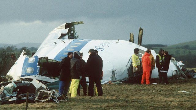 The aftermath of the Lockerbie bombing