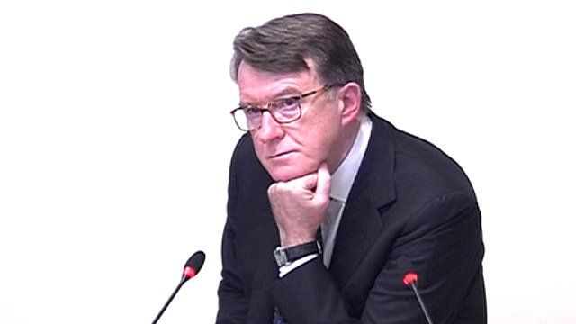 Former Cabinet Minister Lord Mandelson