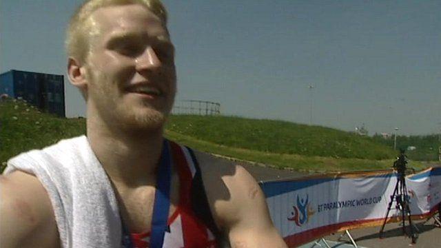 Paralympian Jonnie Peacock