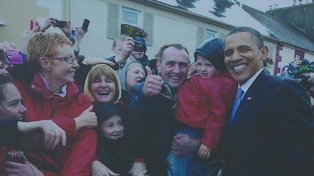 Obama during a visit to Ireland