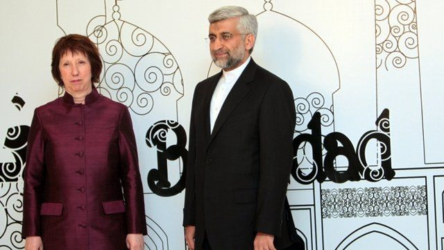 Catherine Ashton and Saeed Jalili meeting in Baghdad
