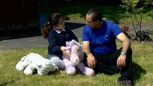 Katherine Abuaglain and her father Waseem