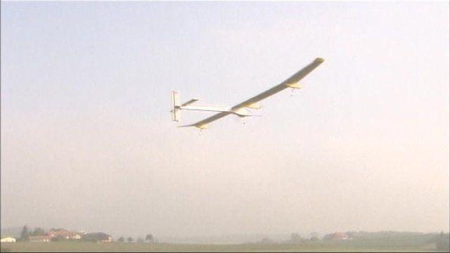 Solar powered plane.