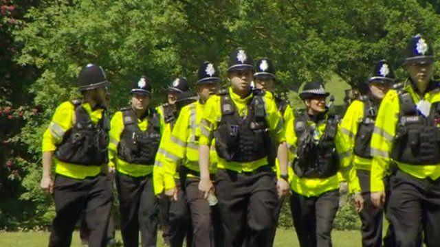 Police line in Harpenden, Hertfordshire