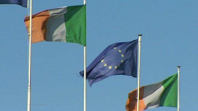 EU and Irish flag
