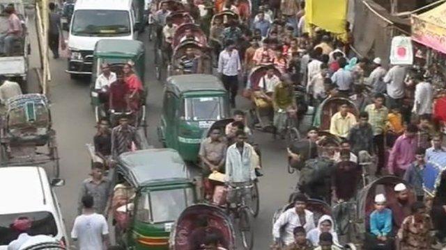 Commuters in Dhaka