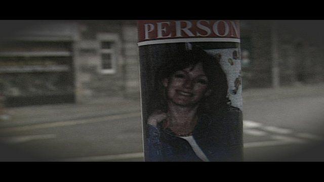 Missing poster showing Arlene Fraser