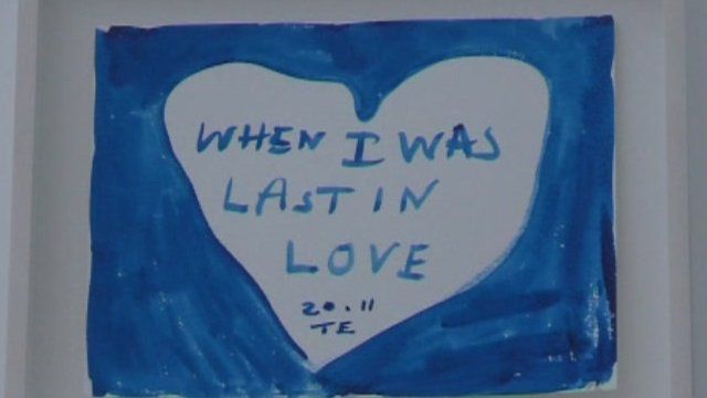 One of Tracey Emin's pieces.