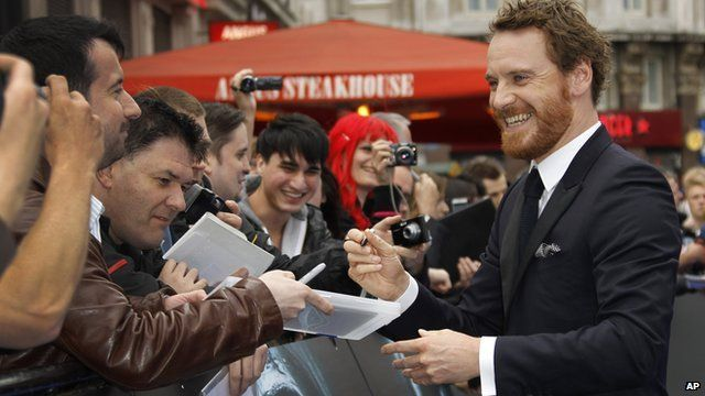 Actor Michael Fassbender arrives for the world premiere of Ridley Scott's new film Prometheus