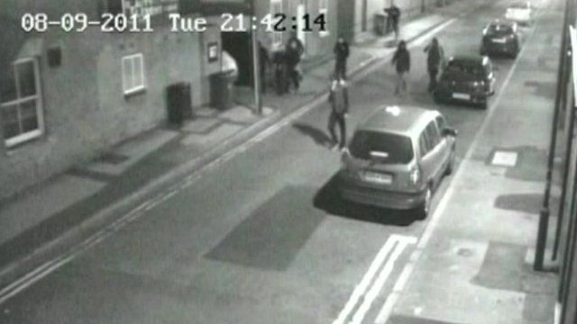 Rioters on CCTV