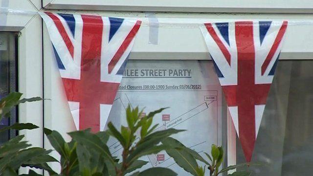 Diamond Jubilee flags in St Leonards