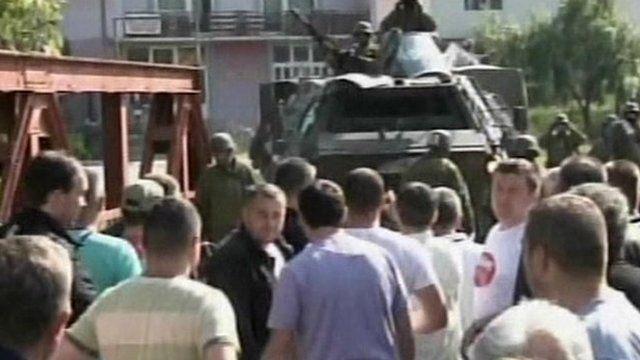 Kosovo Serbs clash with NATO troops