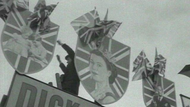 Queen at Derby in 1953