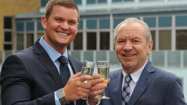 The Apprentice winner Ricky Martin and Lord Sugar