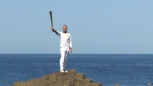 Giants causeway olympic torch