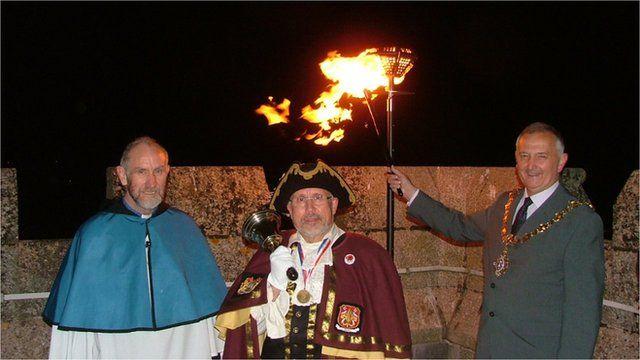 Liskeard's beacon is lit