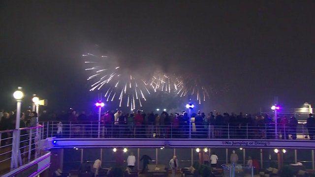 Cunard liners in Jubilee celebrations