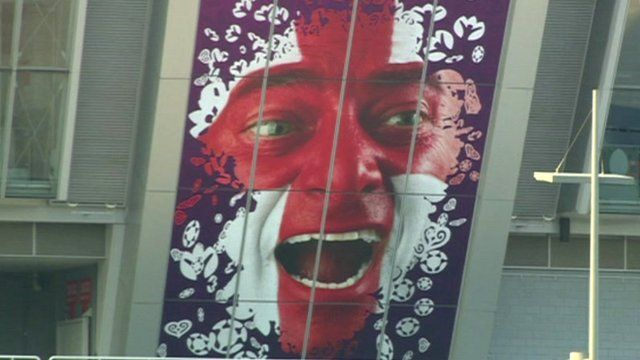 England poster on stadium