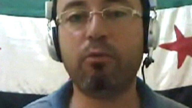 Mousab Al Hammadee, a local activist in Hama