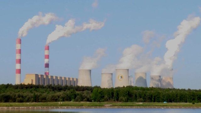 Coal fired power station in Poland