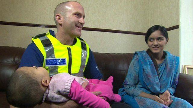 Stuart Garnett and Sadia Shafique with baby Hina