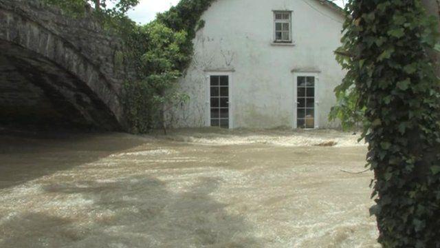 Flooding in Dol-y-bont
