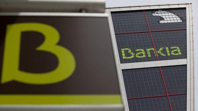 Signs for Spanish bank Bankia