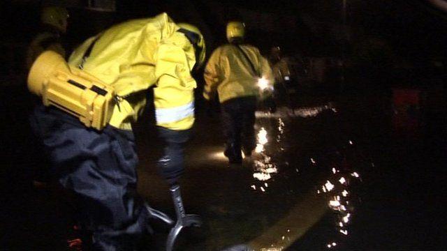 Pumping flood water