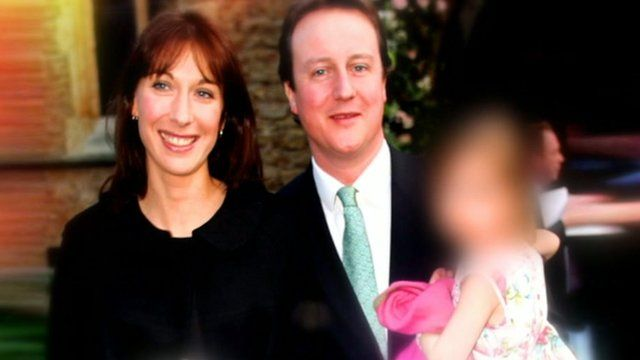 David and Samantha Cameron with their daughter