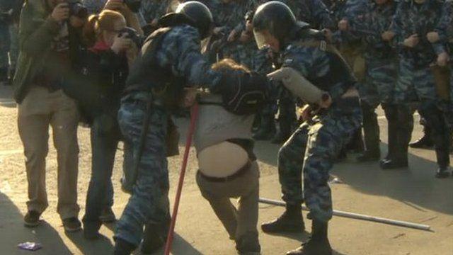 Police detain activist