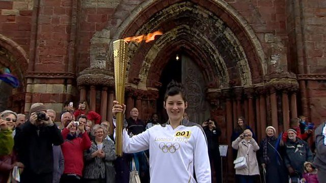 Olympic flame in Orkney
