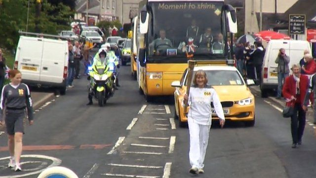Elspeth Graham carries the Olympic torch