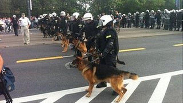 Police in Warsaw