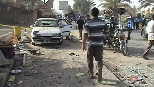 Aftermath of explosion in Hilla