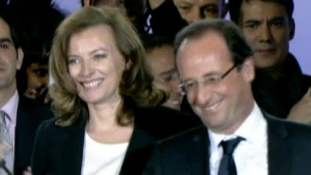 Valerie Trierweiler with Francois Hollande