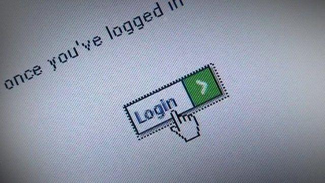 Web login screen