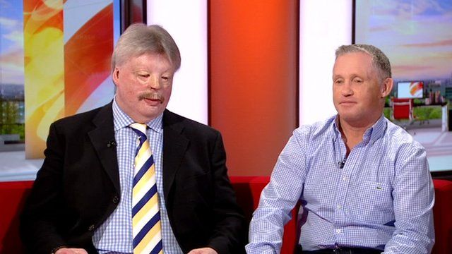 Simon Weston and Tony Banks