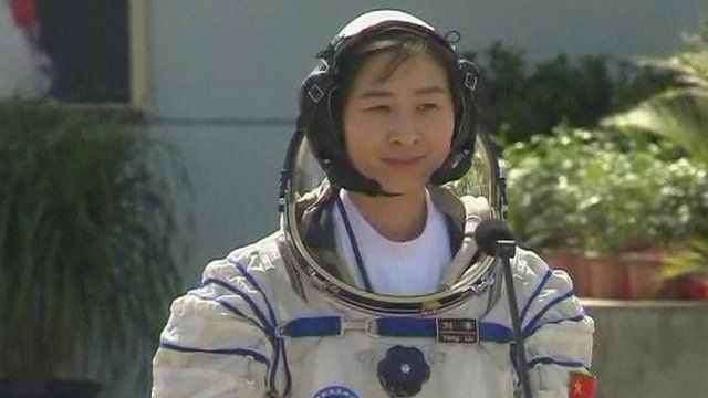 China's first female astronaut, Liu Yang