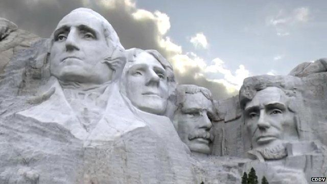 Computer generated image of Mount Rushmore